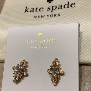 Kate Spade! Gold-Tone Stone Oval Stud Earrings